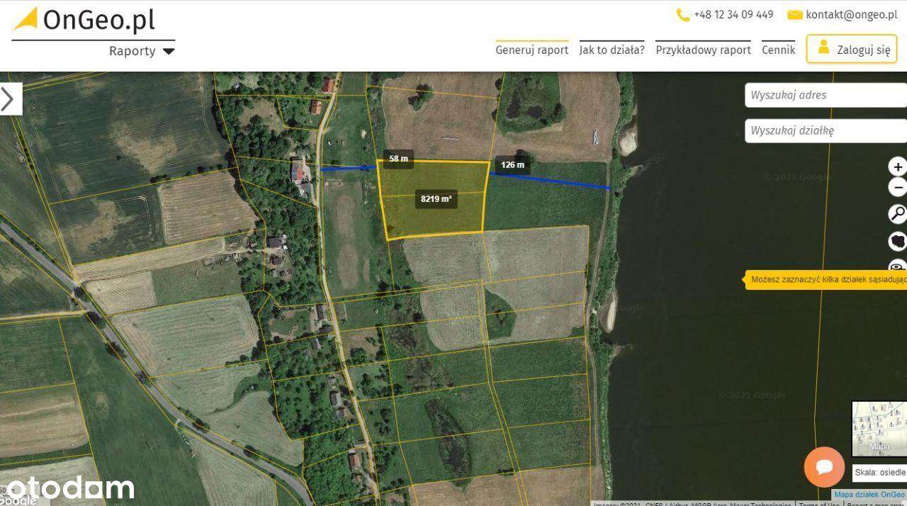 2 Działki Rolne 0,82h Jazwiska gm.Gniew ,Pomorskie