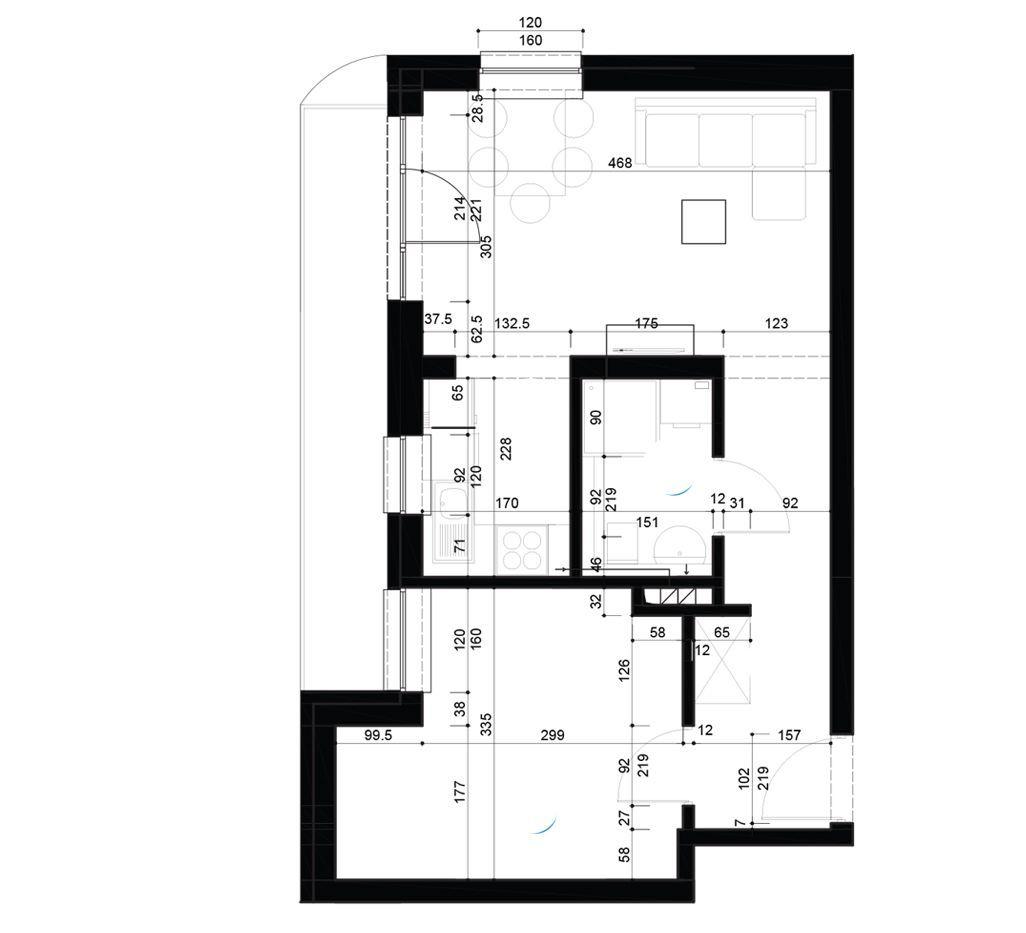 Mieszkanie dwupokojowe o powierzchni 40m2
