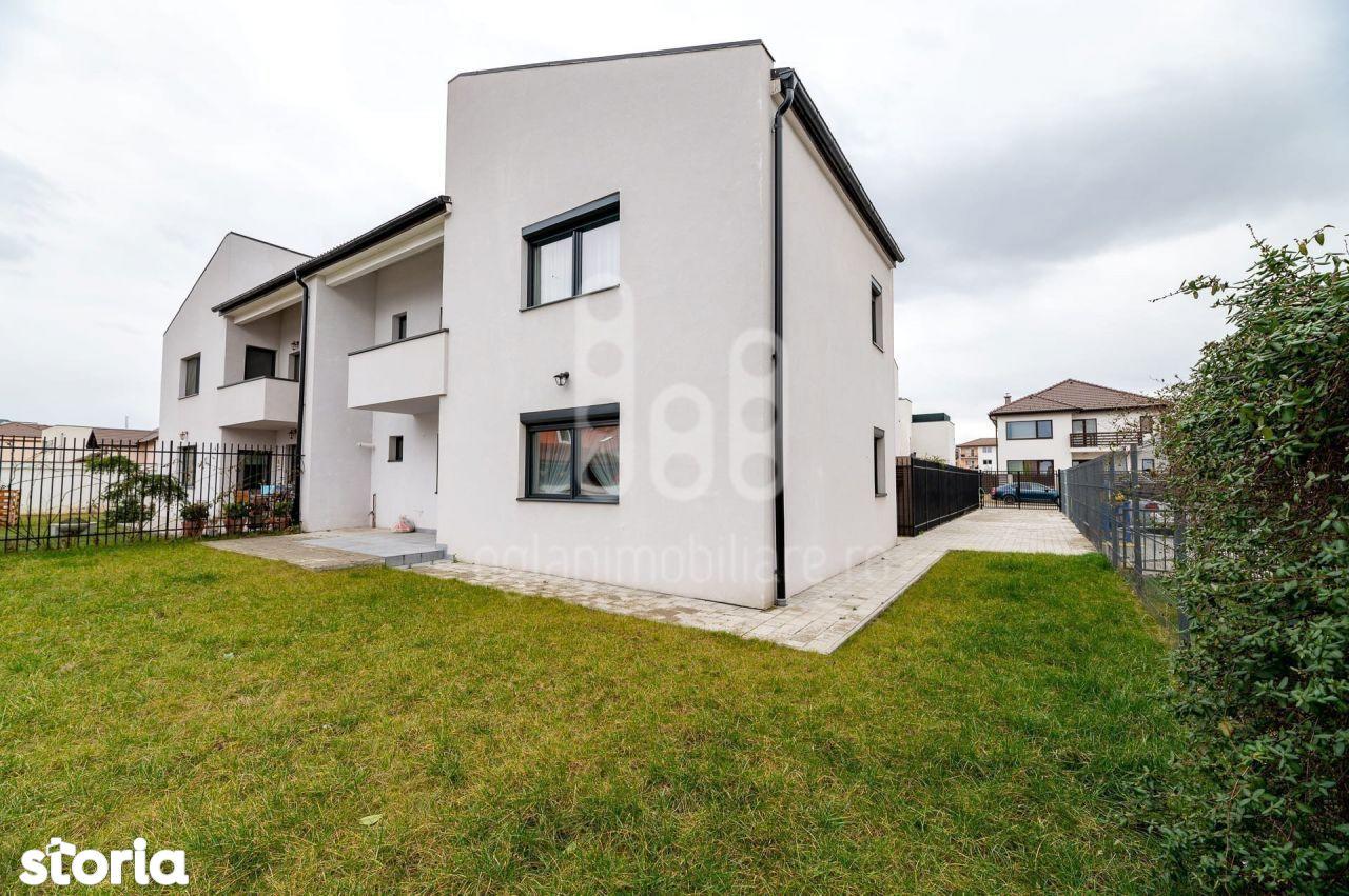 Casa Moderna Tip Duplex 2 Nivele 4 Cam 3 Bai Curte Selimbar
