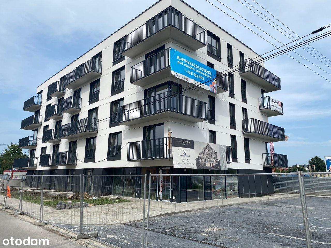 ul. Glogera, 3- pok nowe, gotowe mieszkanie 58m