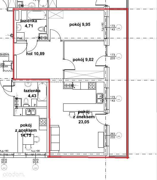 Nowe mieszkanie 57,62m2 trzy pokoje ul. Jantarowa