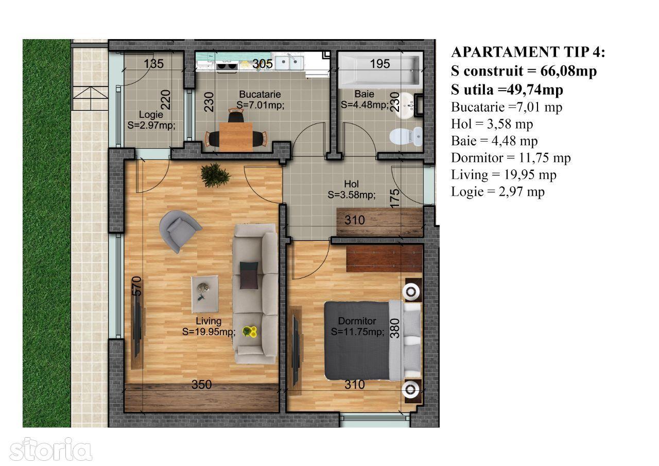 Apartament cu gradina_Finalizat_Oltenitei zona de case
