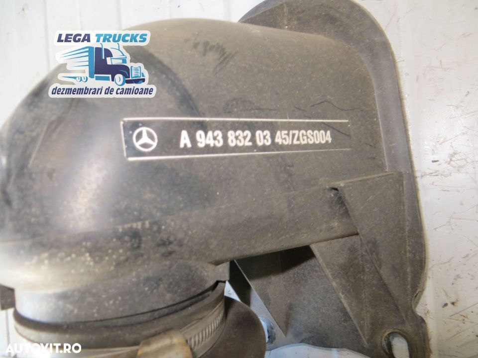 Sirocou sirocol cu suport Mercedes Actros / 9010542B A9438300961 / MED233 - 2