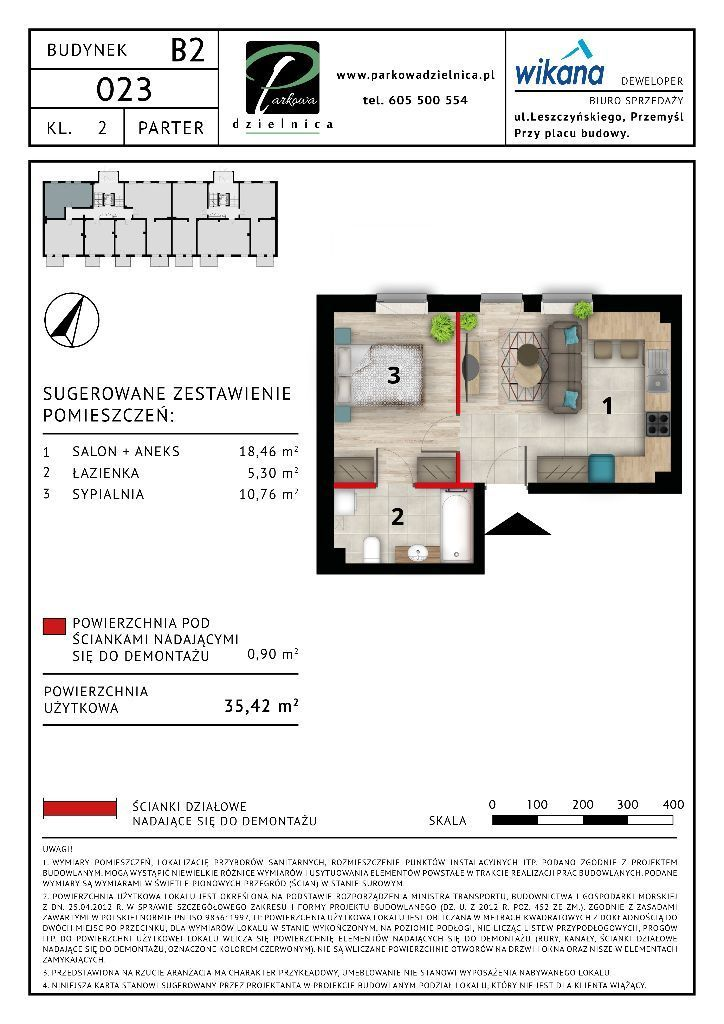 Mieszkanie nr 23 Budynek B2