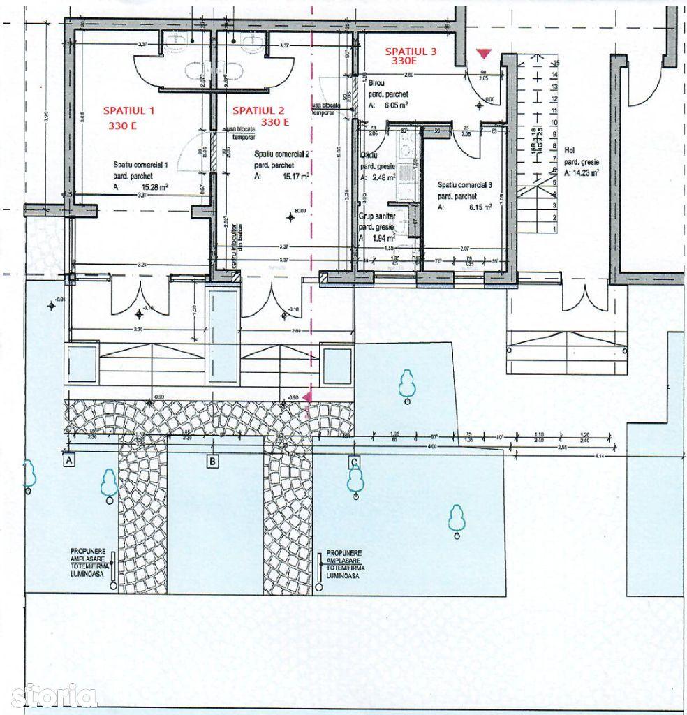Spatii birouri P.Ros la bulevard langa BRD si 50m de giratoriu