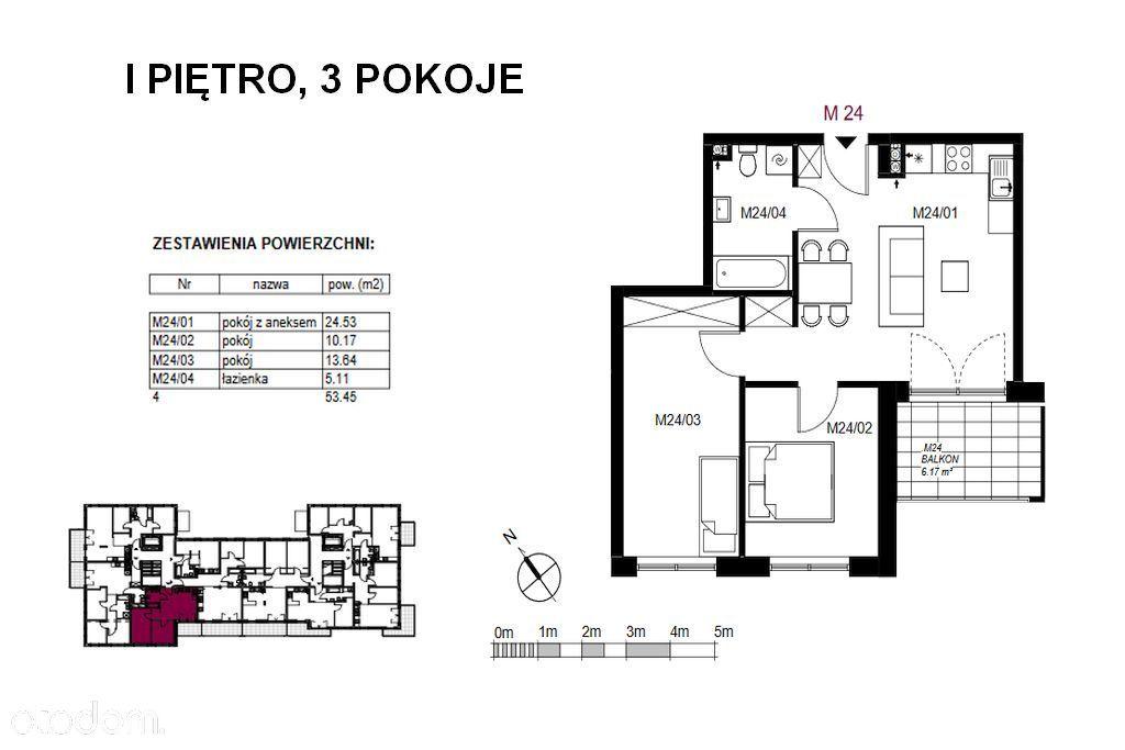 3-pokojowe mieszkanie w nowej inwetycji w Mławie