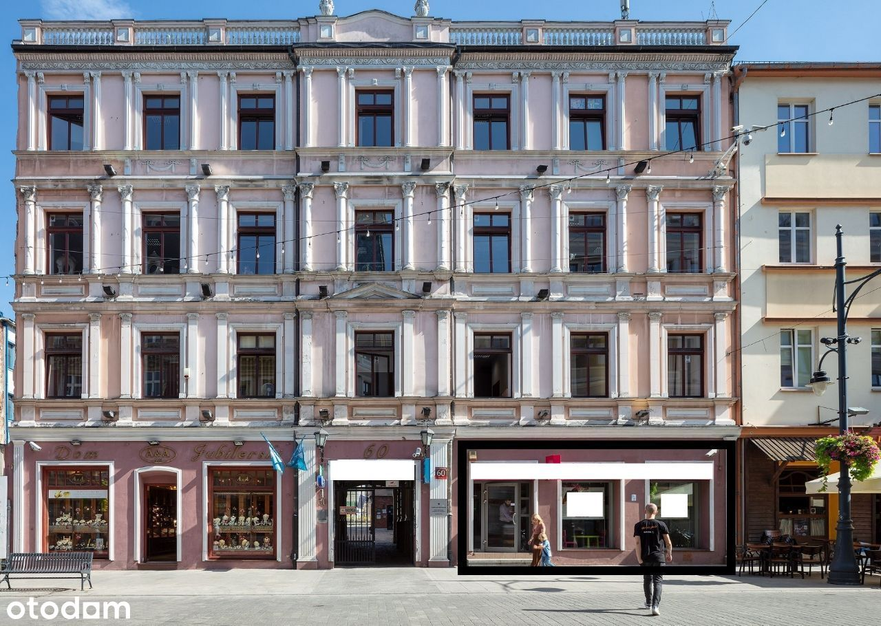 Piotrkowska, lokal na parterze, wejście z ulicy