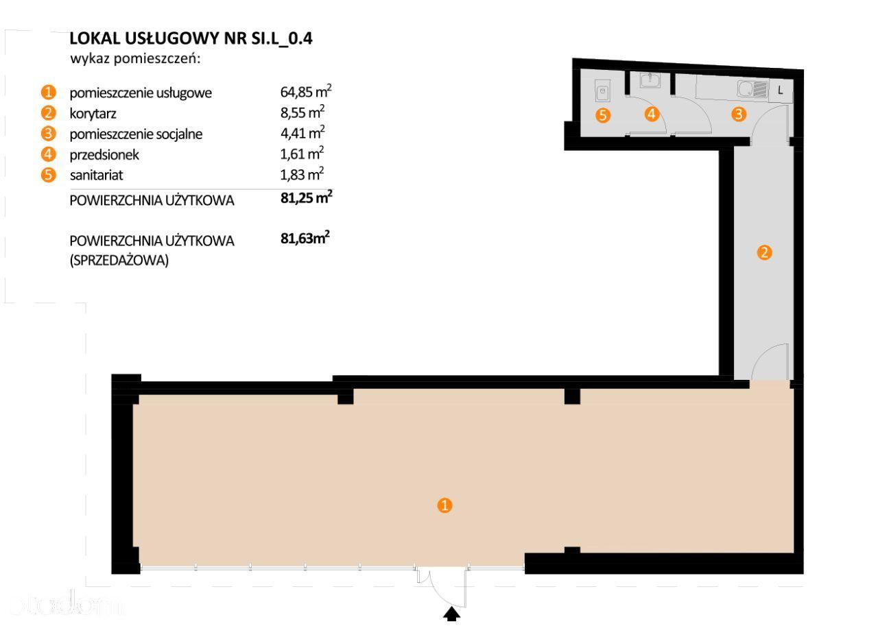 Lokal usługowy - 81,63 m2 - centrum starego miasta