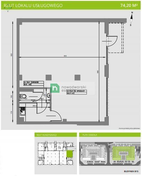 Do wynajęcia witrynowy lokal użytkowy 74,2 m2