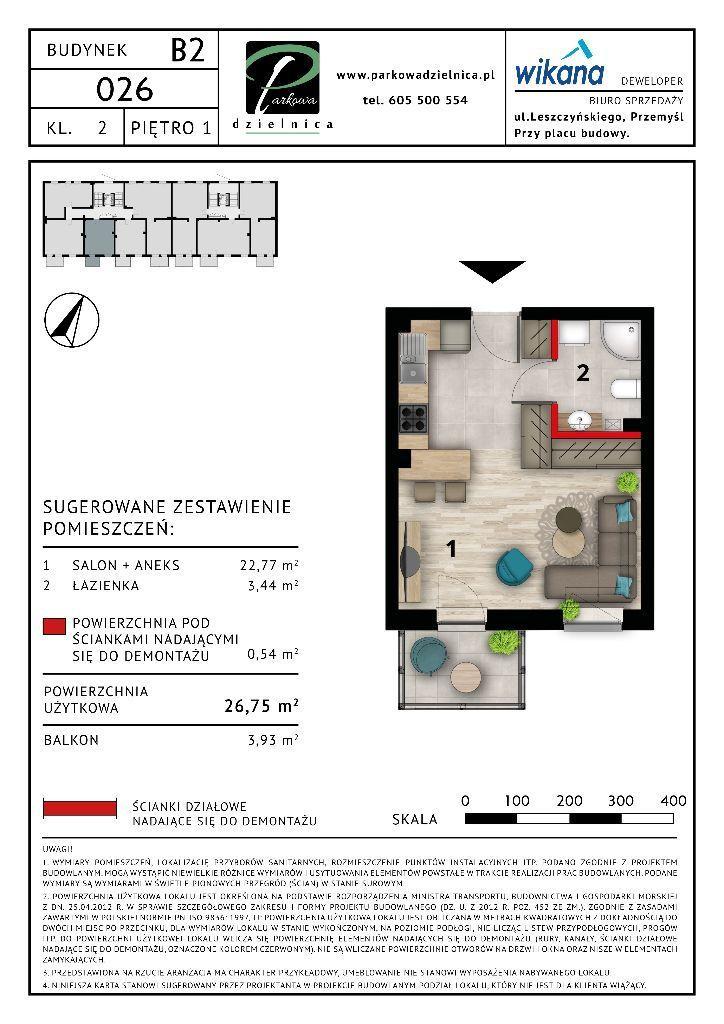 Mieszkanie nr 26 Budynek B2