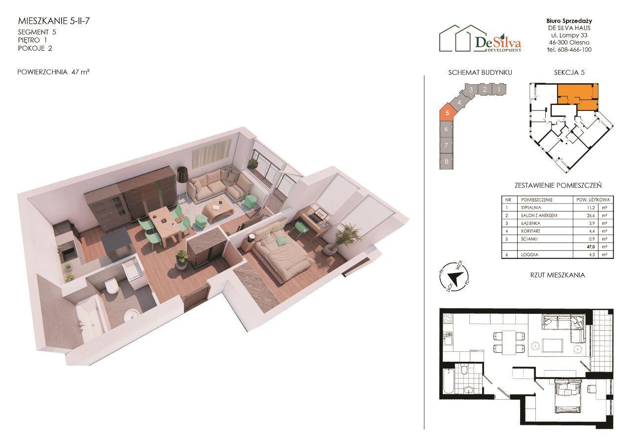 Małe mieszkanie 2-pokoje Nowy blok z garażem 5-2-7