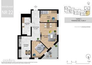 Ciche i przytulne mieszkanie dla rodziny - 74 m2