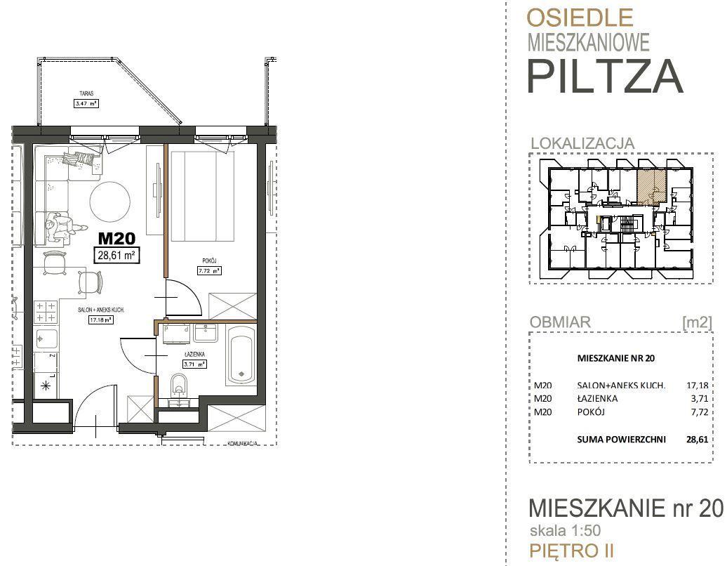 Piltza 2 pok. balkon garaż płatność 25/75 bez PCC
