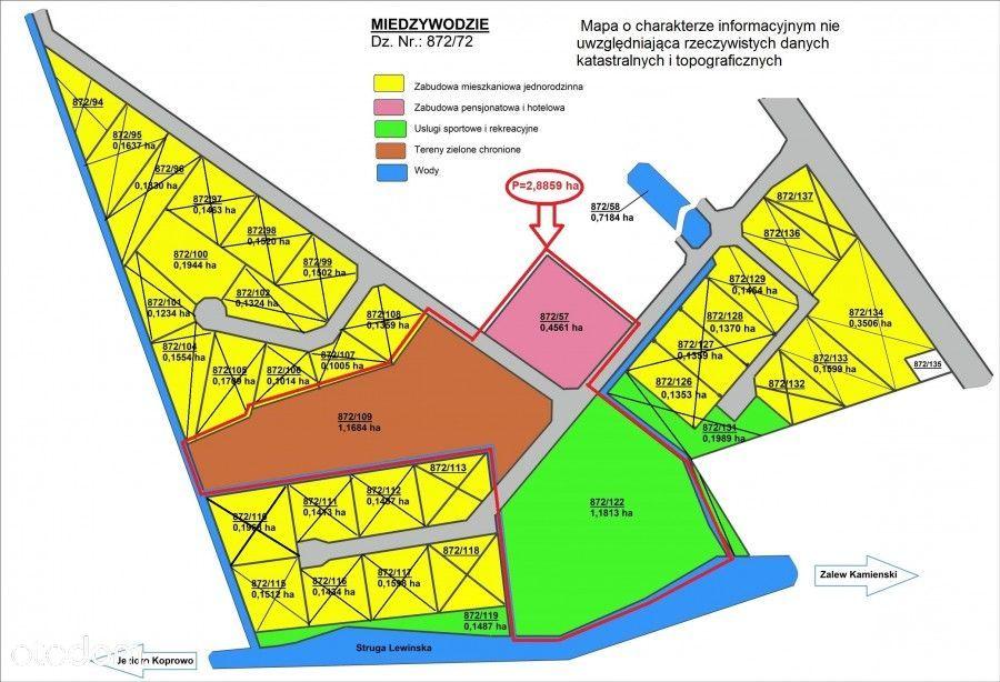 Działka, 28 859 m², Międzywodzie