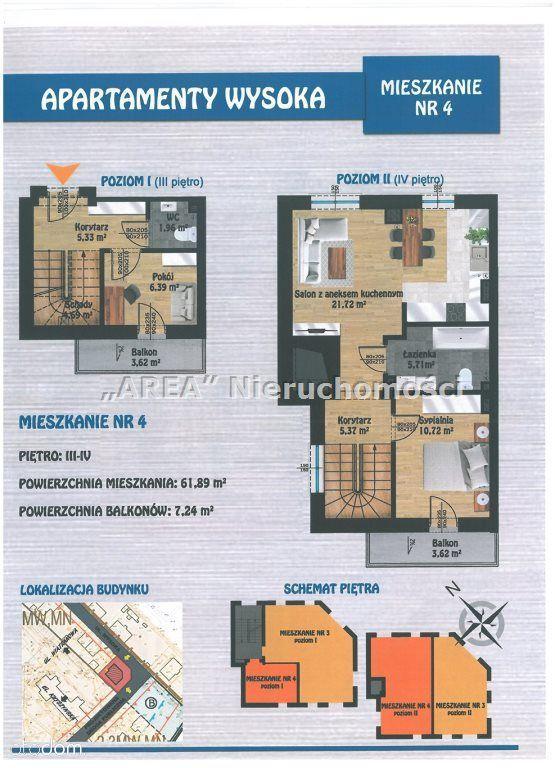 Apartamenty Wysoka - 3 pok. dwupoziomowe-2 balkony