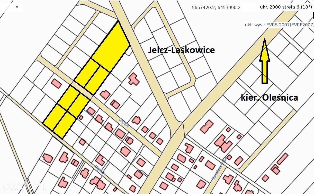 Idealna działka pod deweloperkę, Jelcz-Laskowice