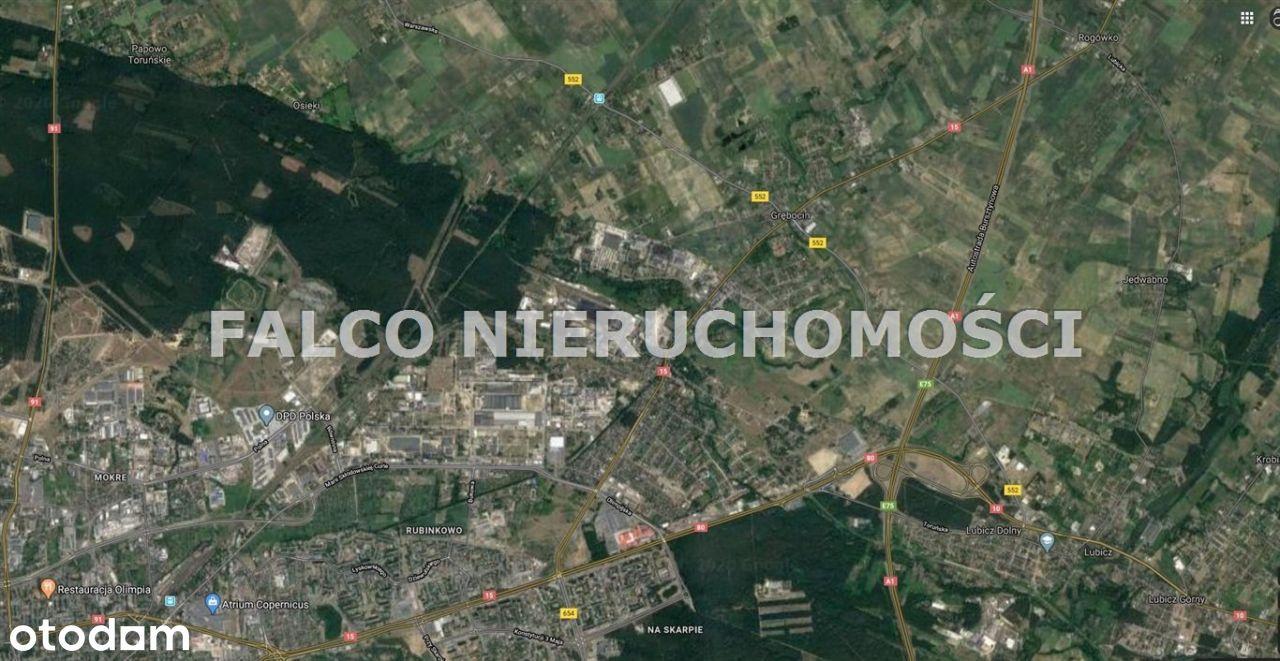 Grębocin 1 ha, inwestycyjna, usługi, stacja paliw