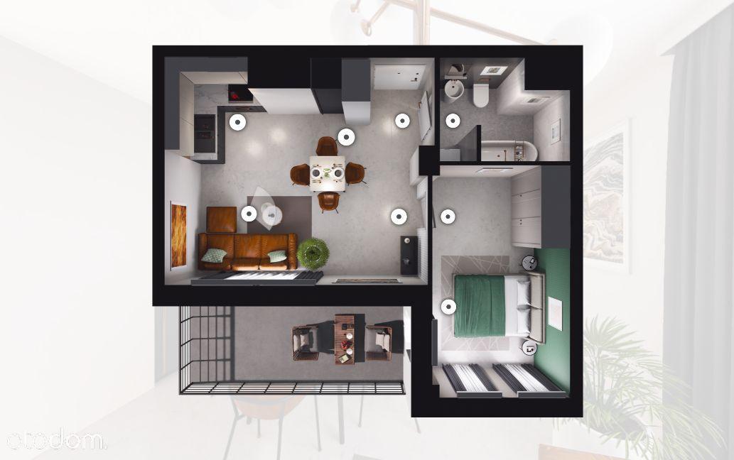 Nowoczesny Apartament z Tarasem/2 Pokoje/0%