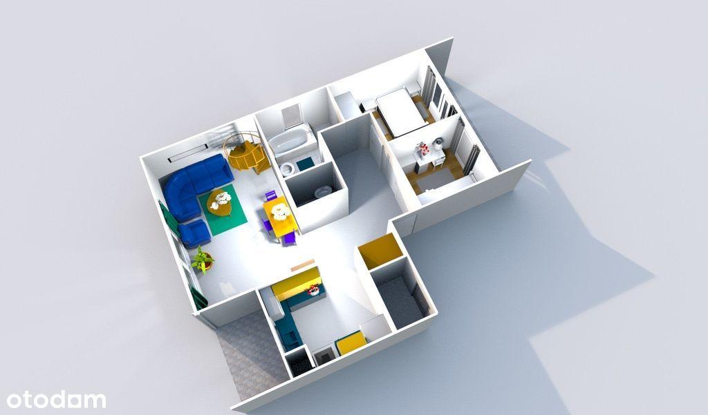 3 lub 4 pokoje - gotowe - 2 miejsca post. w cenie