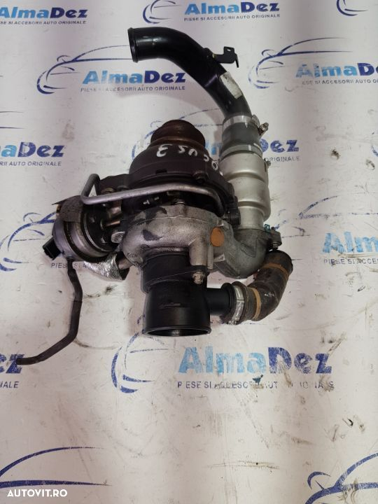 Turbocompresor turbina turbo Ford Focus 3 1.6tdci 2014 105cp cod motor NGDA, injectoare, pompa - 1