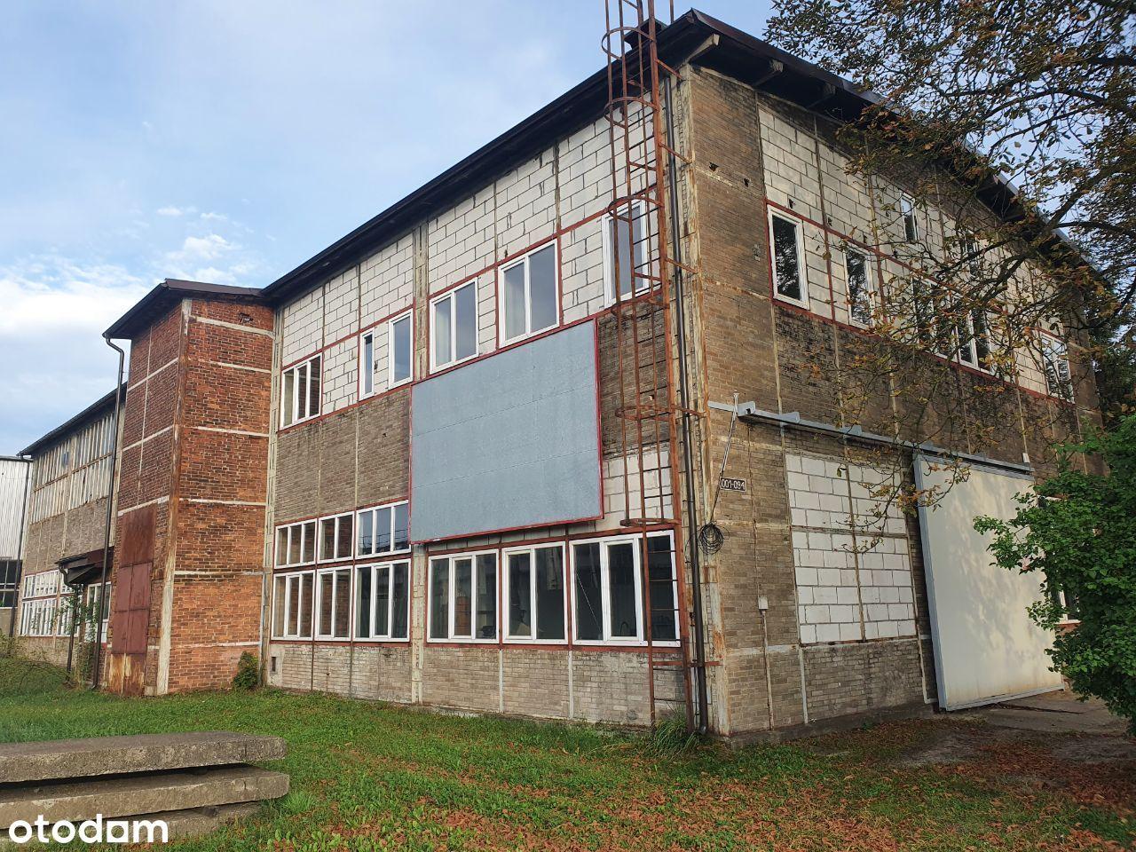 Murowana hala produkcyjna 1400 m2