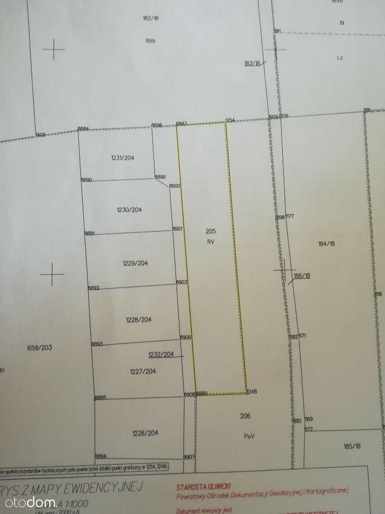 Działka budowlana - Pyskowice 2370m, Dzierżno