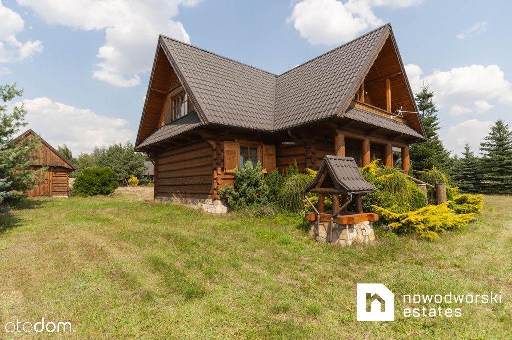 Na sprzedaż wyjątkowy dom drewniany z bali.