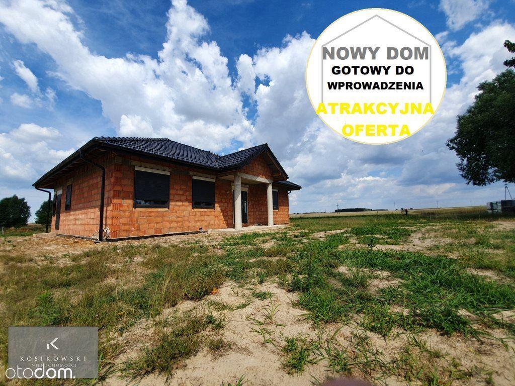 Nowy parterowy dom o pow. ok. 115m2, w gm. Rychtal