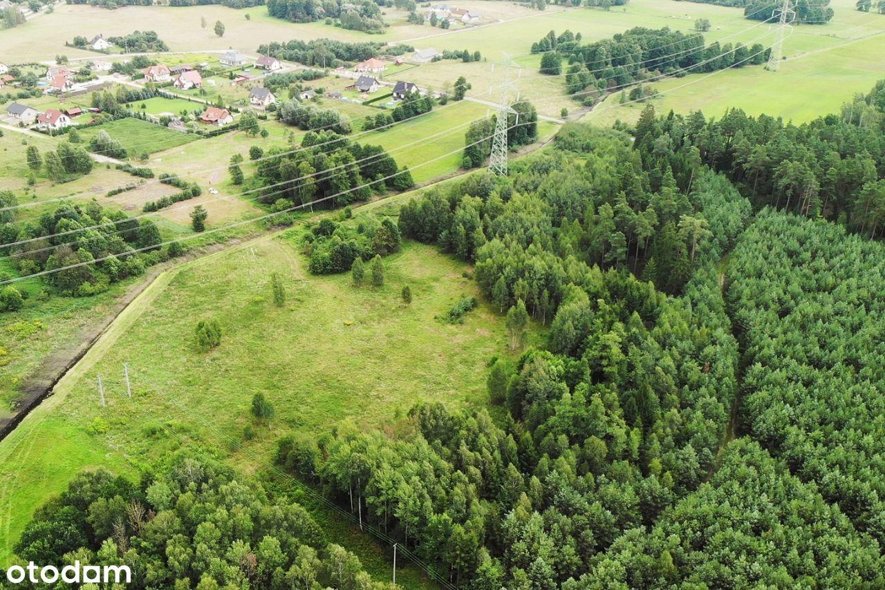 Piękna działka otoczona lasem w okolicach Szczytna