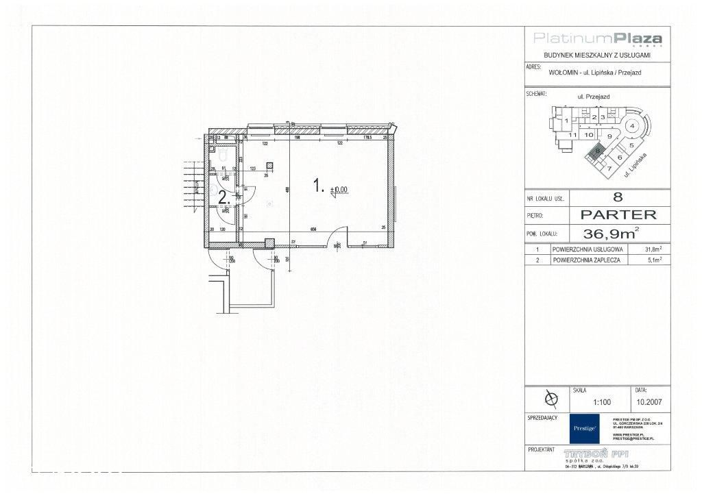 Lokal użytkowy, 36,90 m², Wołomin