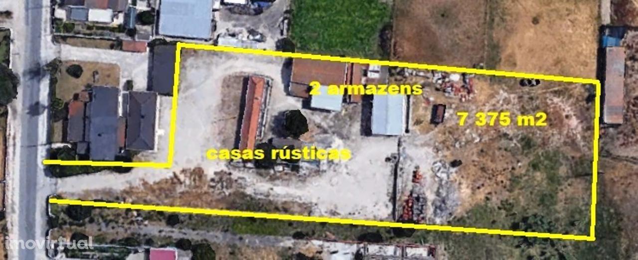 Quinta 7375m2+casas+2 armazéns-Palmela