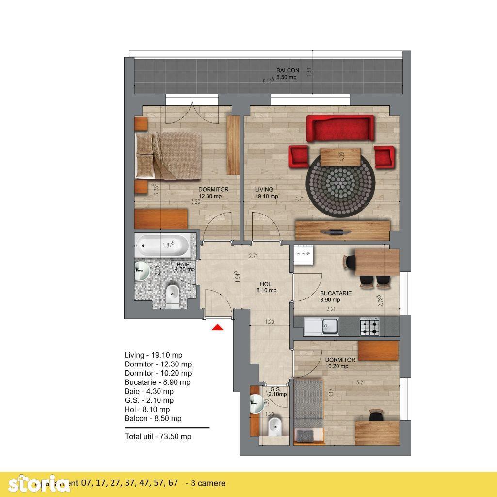 Pasarela Metrou Berceni - Apartament 3 camere - Comision 0%