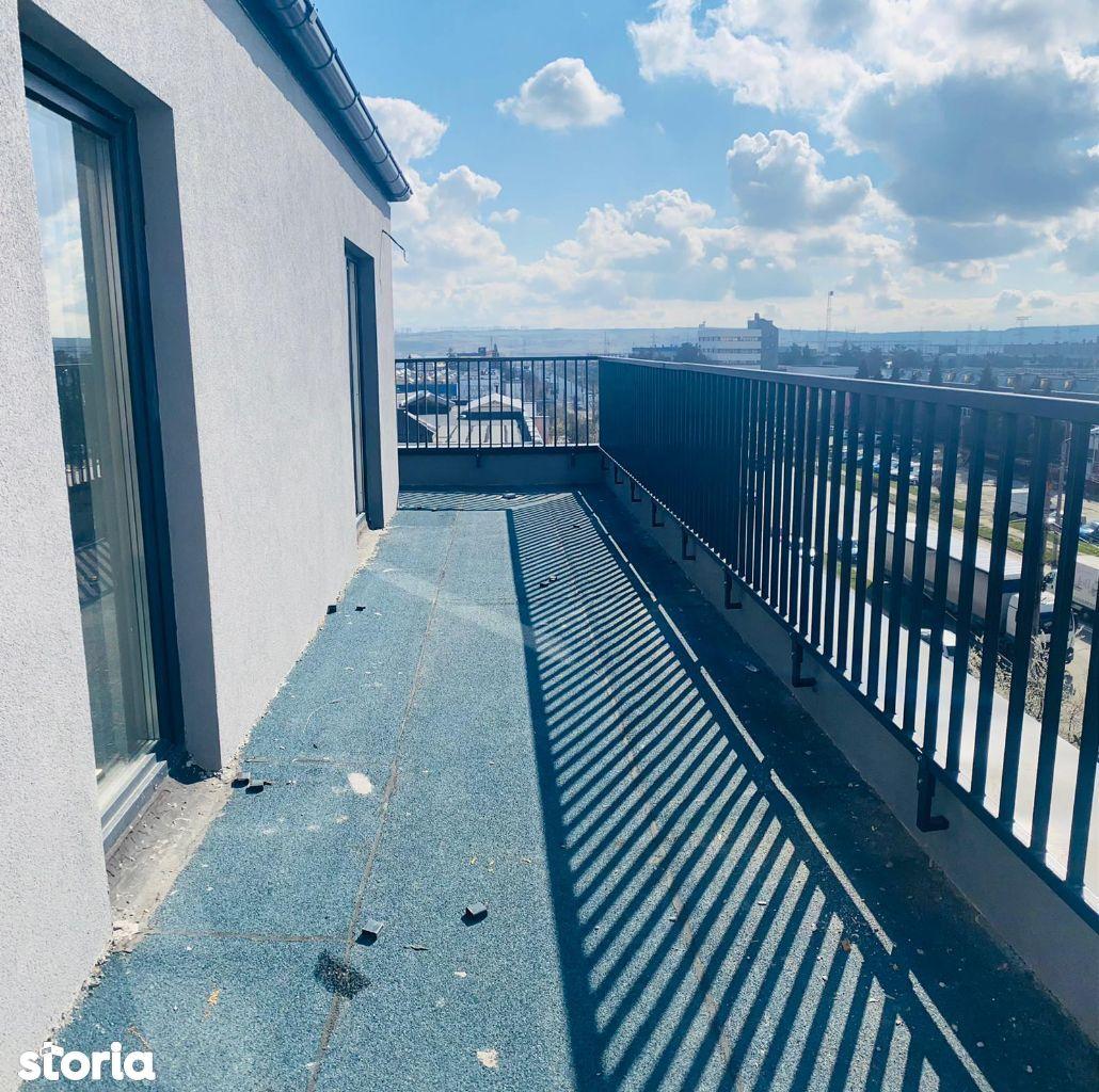 Penthouse 3 camere cu terasa de 50mp, zona Stefan Cel Mare