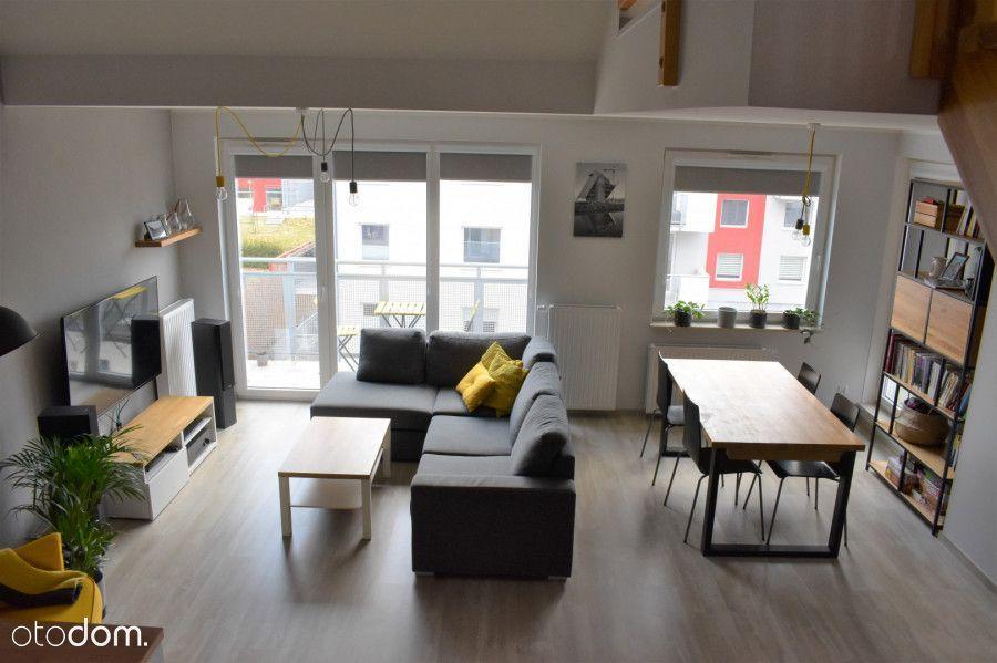 Przestronne słoneczne dwupoziomowe mieszkanie