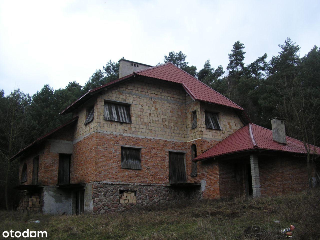 Duży dom w lesie, widok na Zalew - Park Woliński