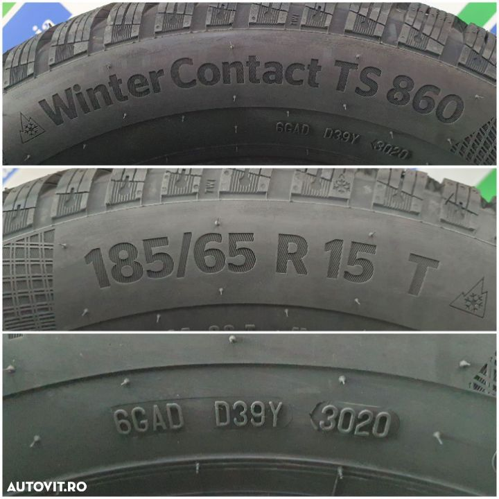 Continental, WinterContact TS 860, 185/65 R15, 88T Noi  M+S – Iarna  Anvelope / Cauciucuri - 3