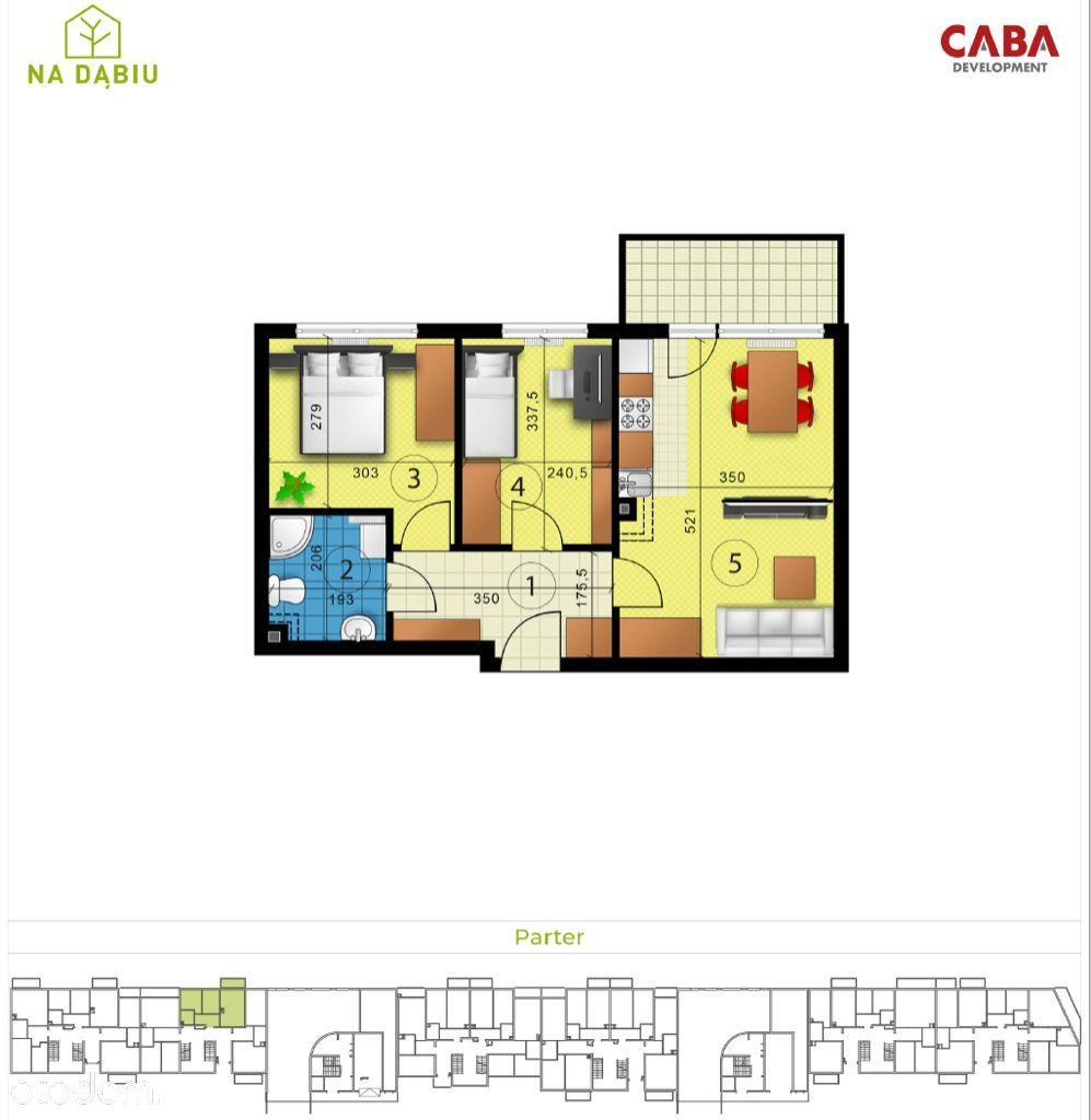 Dąbska 20 | 3 pokoje | balkon | stan deweloperski
