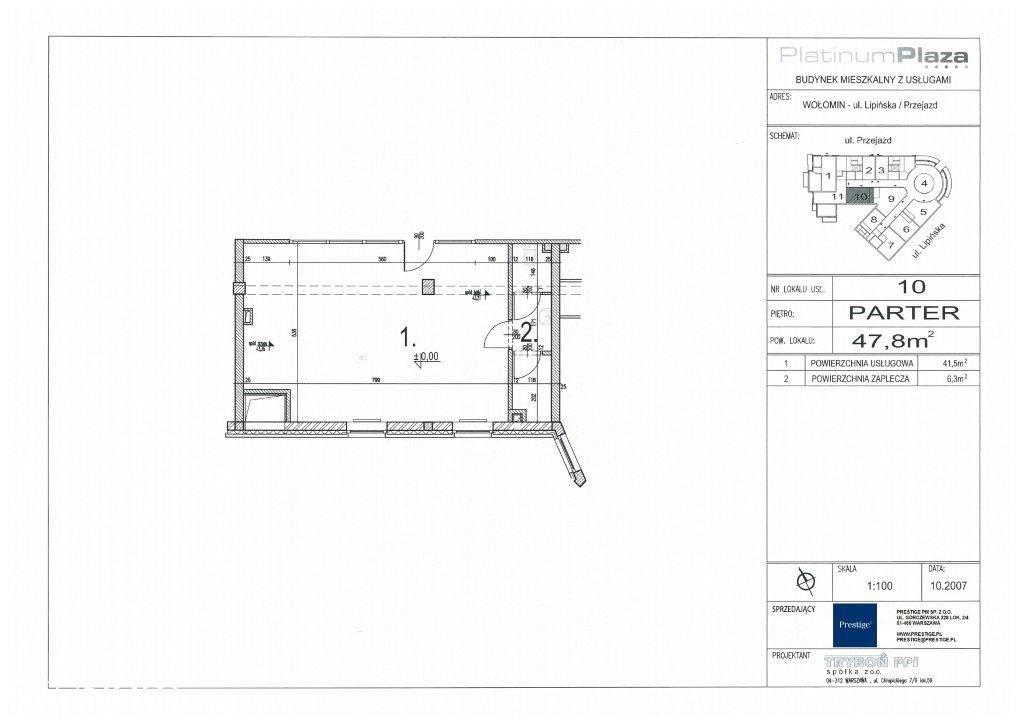 Lokal użytkowy, 47,80 m², Wołomin