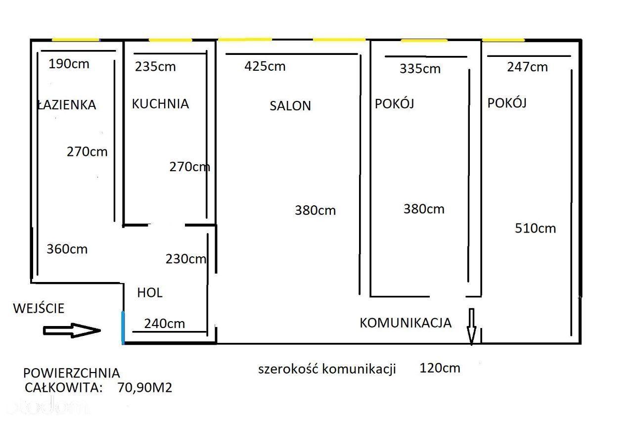 Sprzedam bezpośrednio mieszkanie 71 m2 w Wołominie