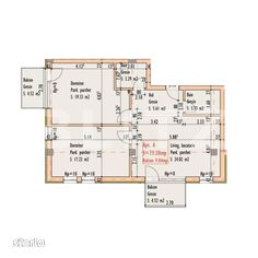 3 camere, 73.20 mp, etaj intermediar, zona strazii Bucuresti