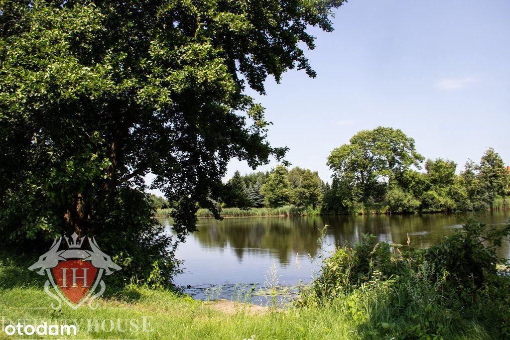 Piękna działka nad jeziorem w Powsinie