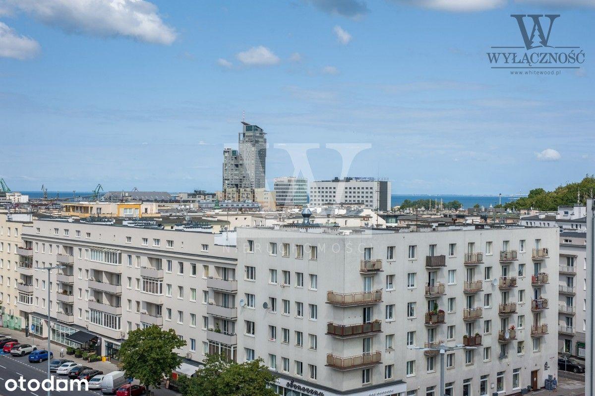 3 pokoje w centrum Gdyni, widok na Zatokę