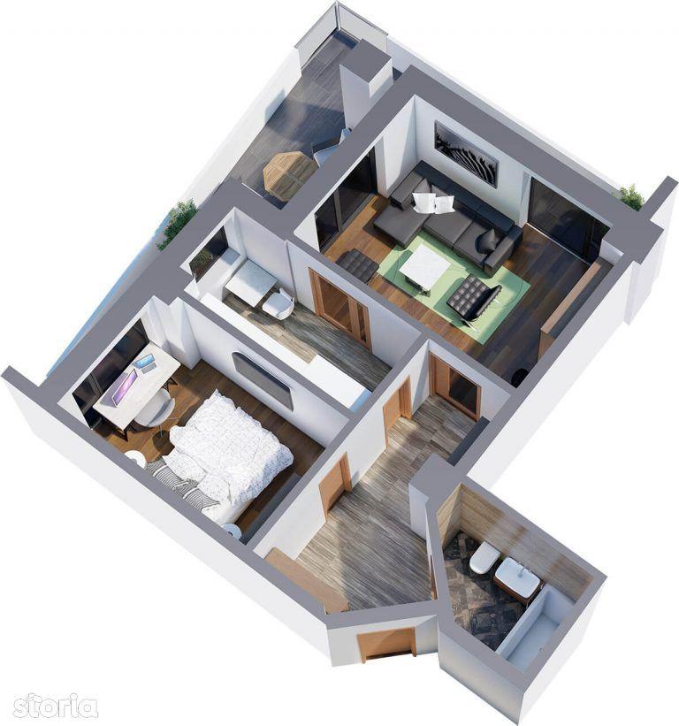 Apartament 2 camere, 54mp utili, Tatarasi,zona Ciric, 700m de Kaufland