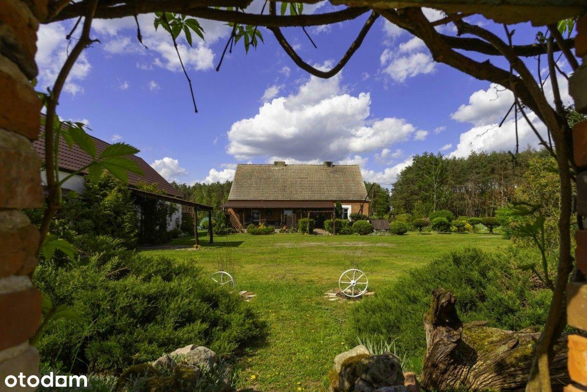 Dom przy lesie z piękną działką