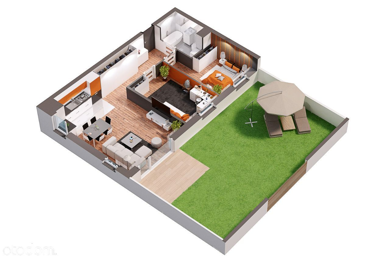Mieszkanie 3 pokojowe z tarasem!