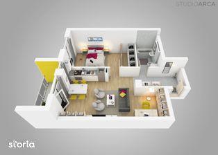 Apartament 2 camere si dressing,cu vedere Iulius Town, Vivalia V6