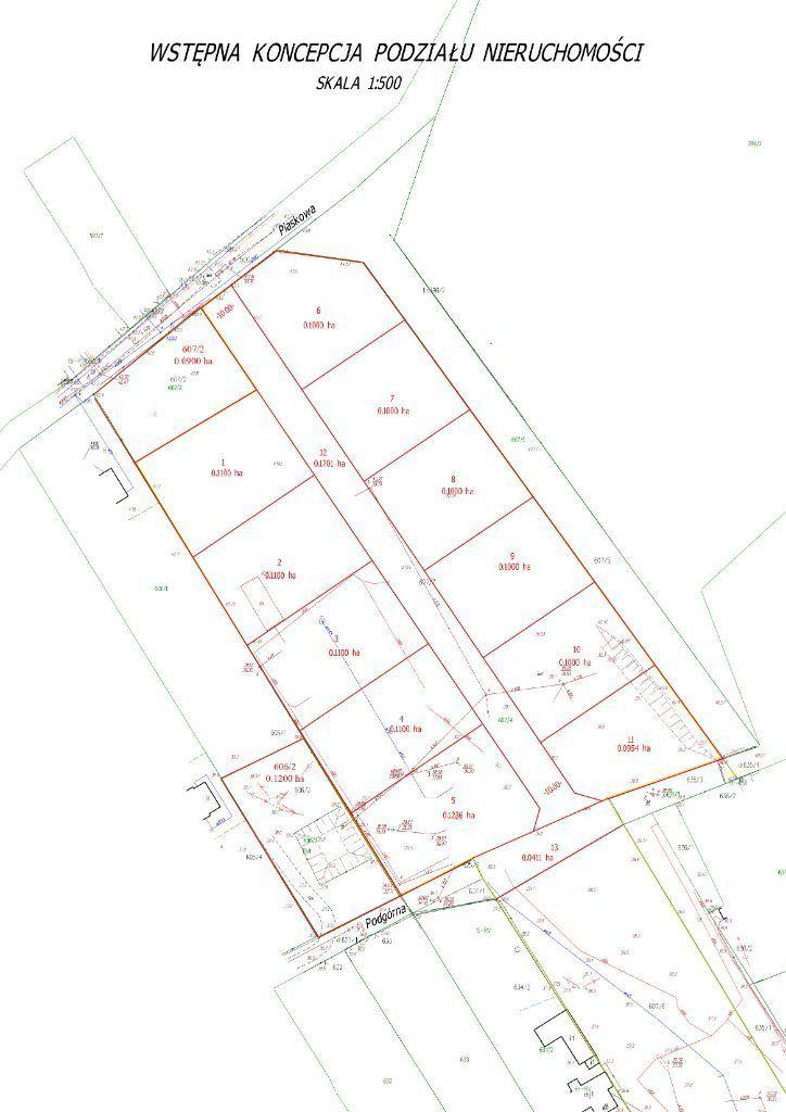 Działki pod zabudowę mieszkaniową (ok. 1 000 m2)