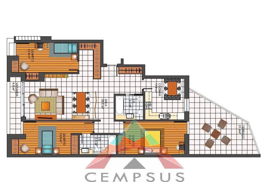 Apartamentos T3 Novos com Vista Mar