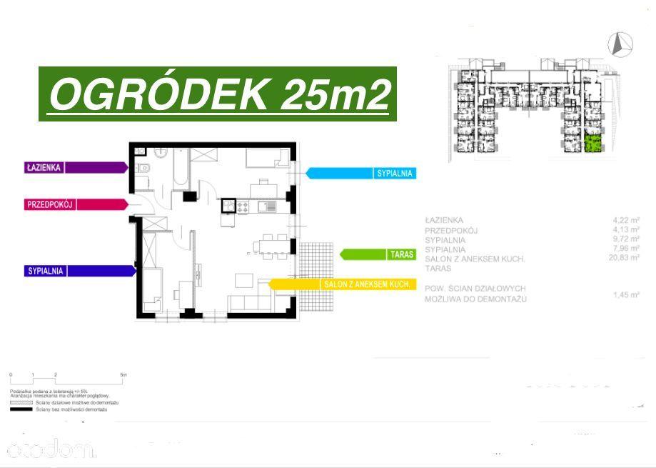 3 Pokoje+Ogródek 25m2/Nowe od Dewelopera-0%