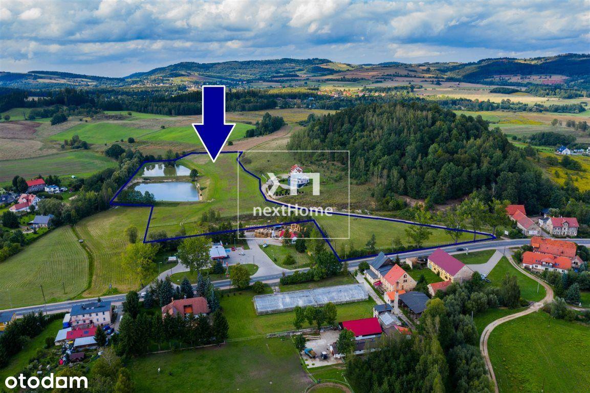 Duży teren przy stacji Orlen-droga E65